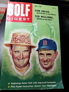 1960 GOLF DIGEST Magazine: Sam Snead & Ted Williams (Red Sox, baseball) on cover