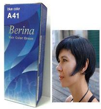 Berina Permanent Hair dye color cream # A41 Dark Blue