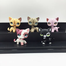 5Pcs Littlest Pet Shop LPS Toys #886 #468 #933 #2291 #2249 Short Hair Cat Gifts