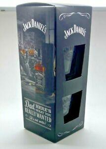 TWIN PACK OF JACK DANIELS GLASSES GIFT SET PUB BAR WHISKEY 2 TWO TUMBLER PAIR