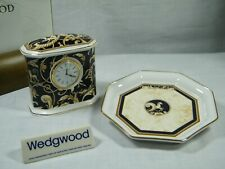 "A Wedgwood "" Cornucopia "" Mantle Clock and matching Tray Superb !!!!."