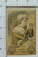 Brook's Spool Cotton Thread Nice Old Lady Threading Needle #A