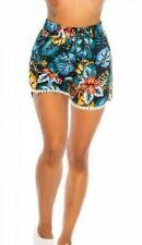 NEW Women Girls Shorts Lounge Cotton Elasticated Waist Size Spring Summer Beach