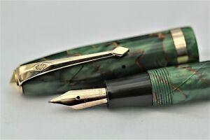 Vintage Super - CONWAY STEWART 84 Fountain Pen  -  C1955 - Gold Fill Trim.