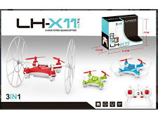 (NEW) LH-X11 2.4GHz 6 Axis GYRO RC Quadcopter 3 in 1 Mini UFO Toy Drone - BLUE