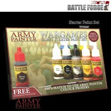 The Army Painter Warpaints Starter Paint Set + Quickshade Wash and Brush - NEW