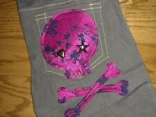 Meow Kiki Handmade DIY Vtg Style Skinny Skull Punk Gothic S/M Cigarette Pants