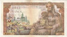 Billet banque DEMETER 1000 F 11-02-1943 MZ B.4032 état voir scan trous d'épingle