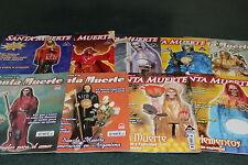 4.-SET 9 MAGAZINES revistas DEVOCION SANTA MUERTE rituales, limpias, oraciones
