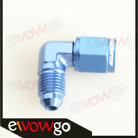 4AN -4AN AN4 90 Degree Female To Male Fittings Adapter Aluminum Blue