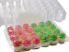 Mini Cupcake Containers Katgely Boxes for 24pcs Set of 10 Containers Baking Tool