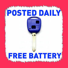 BLUE TOYOTA 2 BUTTON KEY SHELL COROLLA KLUGER PRADO YARIS