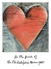 The Philadelphia Heart by Jim Dine Art Print Museum of Art Poster 27x20