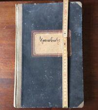 Kassenbuch um 1900 in guter Erhaltung