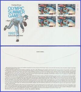 USA5 #2619 U/A ARTMASTER FDC PB4 Olympic Baseball