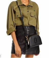 Marc Jacobs Shutter Leather Crossbody Bag Black/gold M0015468
