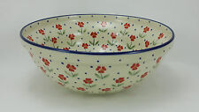 Bunzlauer Keramik Schale MISKA, Schüssel, Salat, ø24cm, (M092-AC61), Blumen