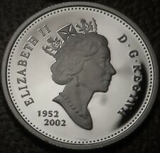 1952- 2002 Canada SILVER PROOF 25 Cents Coin - UNCIRCULATED Coin from PROOF Set!