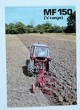 Massey Ferguson MF150 (s range) Plough Double Sided Brochure.. Please See Pics.