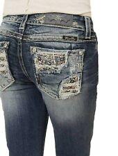 NWT - Miss Me Women's Boot Cut Signature Denim Jeans - Size 26 x 33L