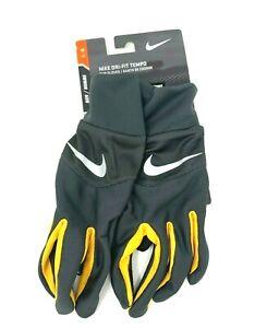 Nike Dri-Fit Tempo Run Gloves Men's Large Anthracite/Laser Orange/Silver