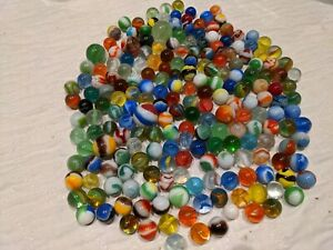 Vintage Antique Lot Of Marbles: Mix- 200 Total Marbles