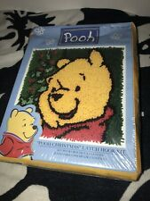 Caron DisneyLatch Hook KitPooh Christmas 13x13 Factory Sealed Box