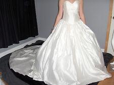 DIZZIE LIZZIE ENGLAND KLEINFELD SILK 8-10 WEDDING GOWN DRESS PRINCESS NWT $2,600