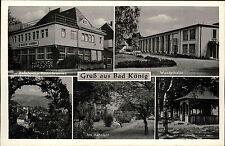 Bad König Odenwald alte Mehrbildkarte ~1930/40 Fährbrunnen Bahnhof Badehaus u.a.
