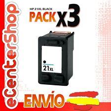 3 Cartuchos Tinta Negra / Negro HP 21XL Reman HP Deskjet F2200 Series