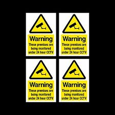 CCTV Sign, Sticker Pack of 4 - 150mm x 200mm (A5) - Security, Camera - (MISC10)
