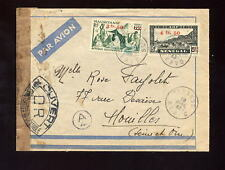 FRENCH SENEGAL 1945 CENSOR COVER +MAURITANIA DAKAR..Surcharges and A4 Circled