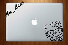 Macbook Air Pro Vinyl Skin Sticker Decal - Cute Hello Kitty Glasses Cat #MAC596
