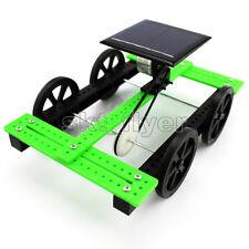 Green Solar Car Toy Belt Wheel Motor Model DIY KIT 15*10*6.5cm Hobby Gift Kids