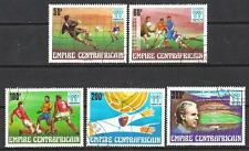 Football Centrafrique (63) série complète 5 timbres oblitérés