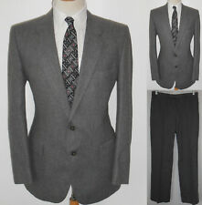 42L Mens Gray Business Wool Blend MICHAEL LAURENCE Custom Tailored MOD Suit