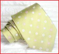 Cravatta uomo jacquard Made in Italy SETA business matrimoni  RP € 40 verde