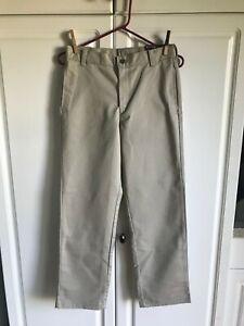 New Pair of Boys George Uniform Pants size 14 Khaki Flat Front