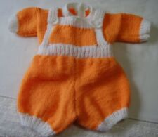 Hand knitted romper set  0-6 months