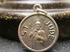 VINTAGE ST. JUDE PATRON ST. IMPOSSIBLE SILVER PLATE  RELIGIOUS MEDAL    LOT #B-2