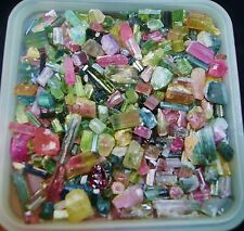 Multi color Tourmaline rough crystal mineral specimen 500 Carats Lot Afg