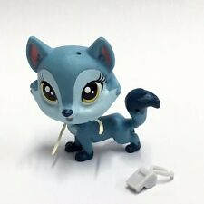 Littlest Pet Shop LPS Wolfgang North #3806 Gray Puppy Dog Hasbro figure Toy EA70