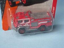 MATCHBOX FIRE ENGINE ROSSO corpo WILTON Salvataggio in USA BP 70mm