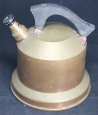 """New listing Wb Solid Copper Whistling Teapot w/ Wood Handle - 6.75"""" Diameter - Vintage"""