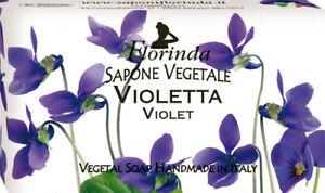 Sapone Saponette Profumate Florinda vegetale 100 gr VIOLETTA  profumatissima