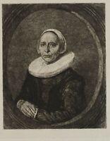 Nach einem Porträt niederländ. alter Meister, Alte Frau mit Halskrause, Rad