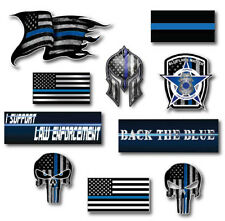 10x Thin Blue Line Decal Sticker Police Officer American Flag Blue Lives Matter