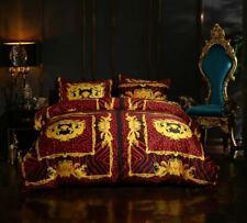 Versace Medusa Bedding Set Duvet Cover Bed Sheet Pillowcase Palace Luxury Velvet