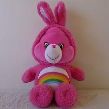 Care Bears Cheer Bear Easter Bunny Ears Plush Doll Toy Cartoon Rainbow Pink Soft