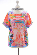 T-10 Lolita T-Shirt Funky Funny Hands Harajuku Japan Trend Fashion Cute Kawaii
